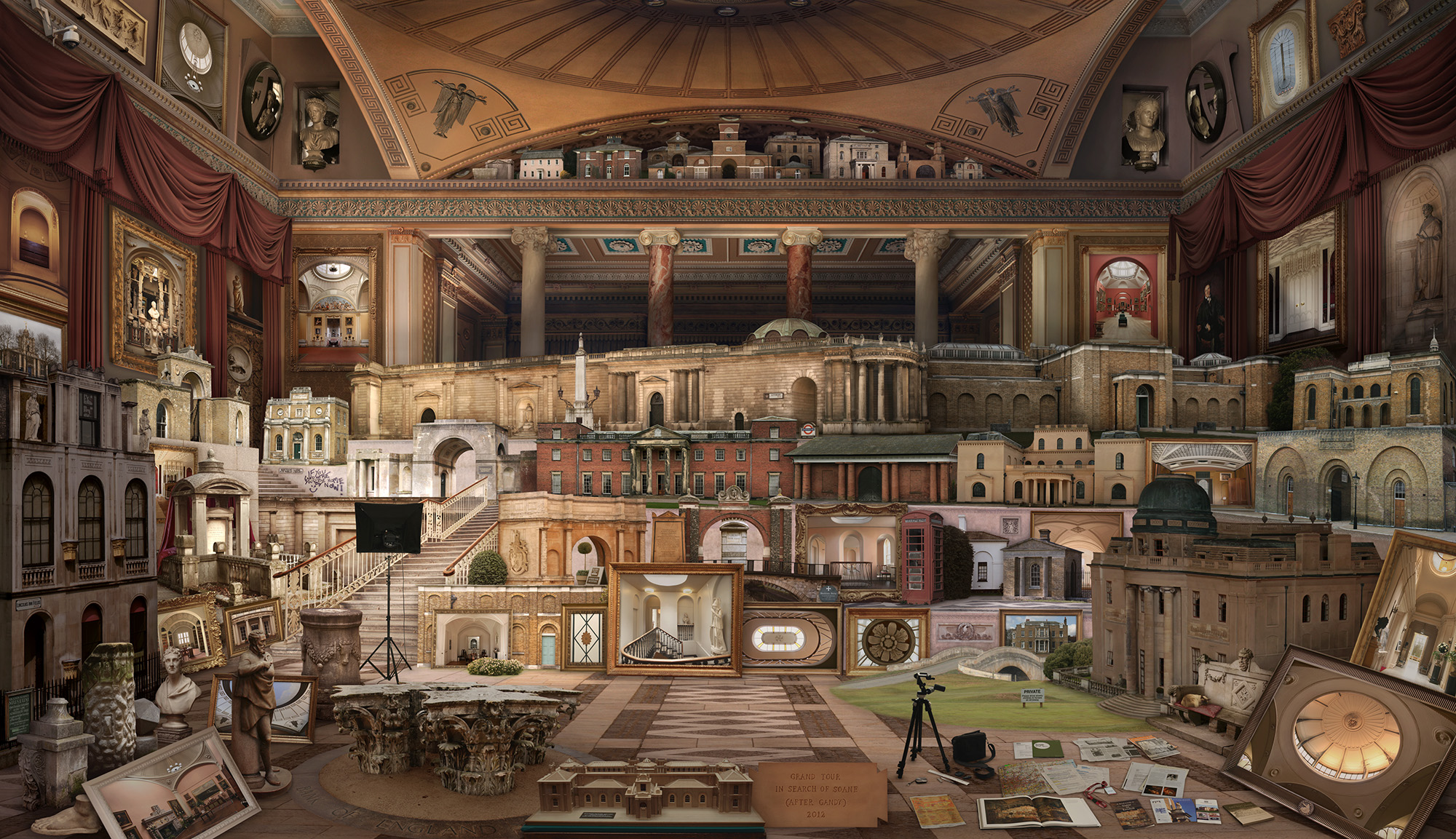 Emily Allchurch, Grand Tour: In Search of Soane (after Gandy), 2012