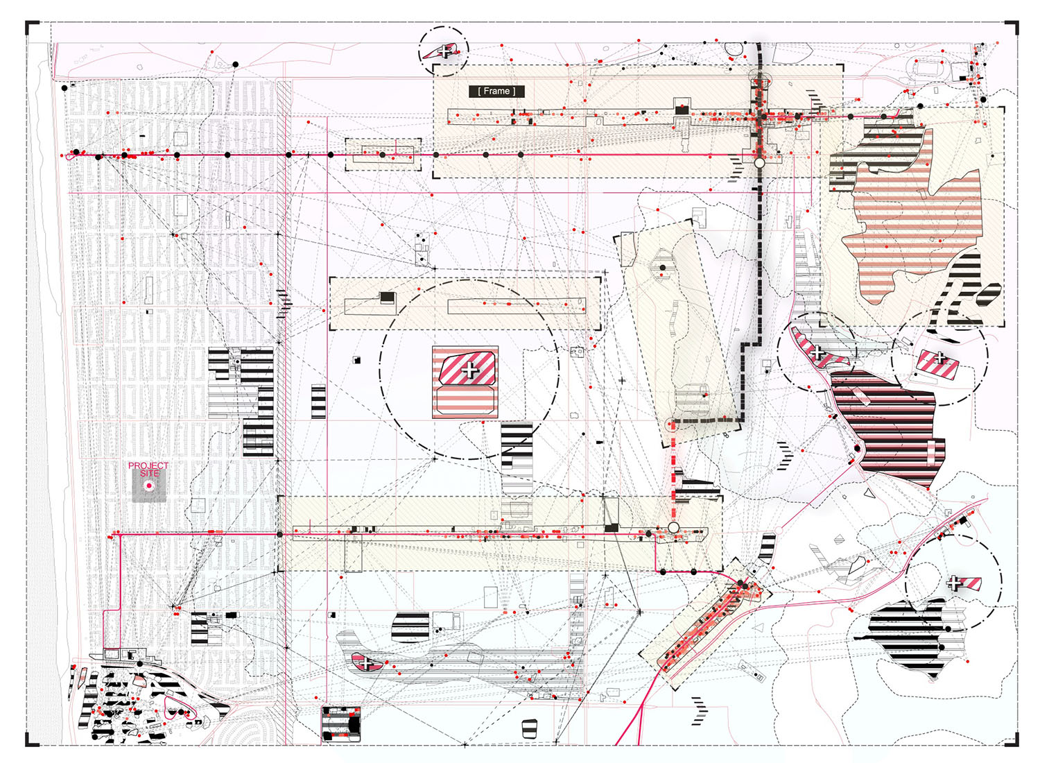 A digital plan of an architectural construction