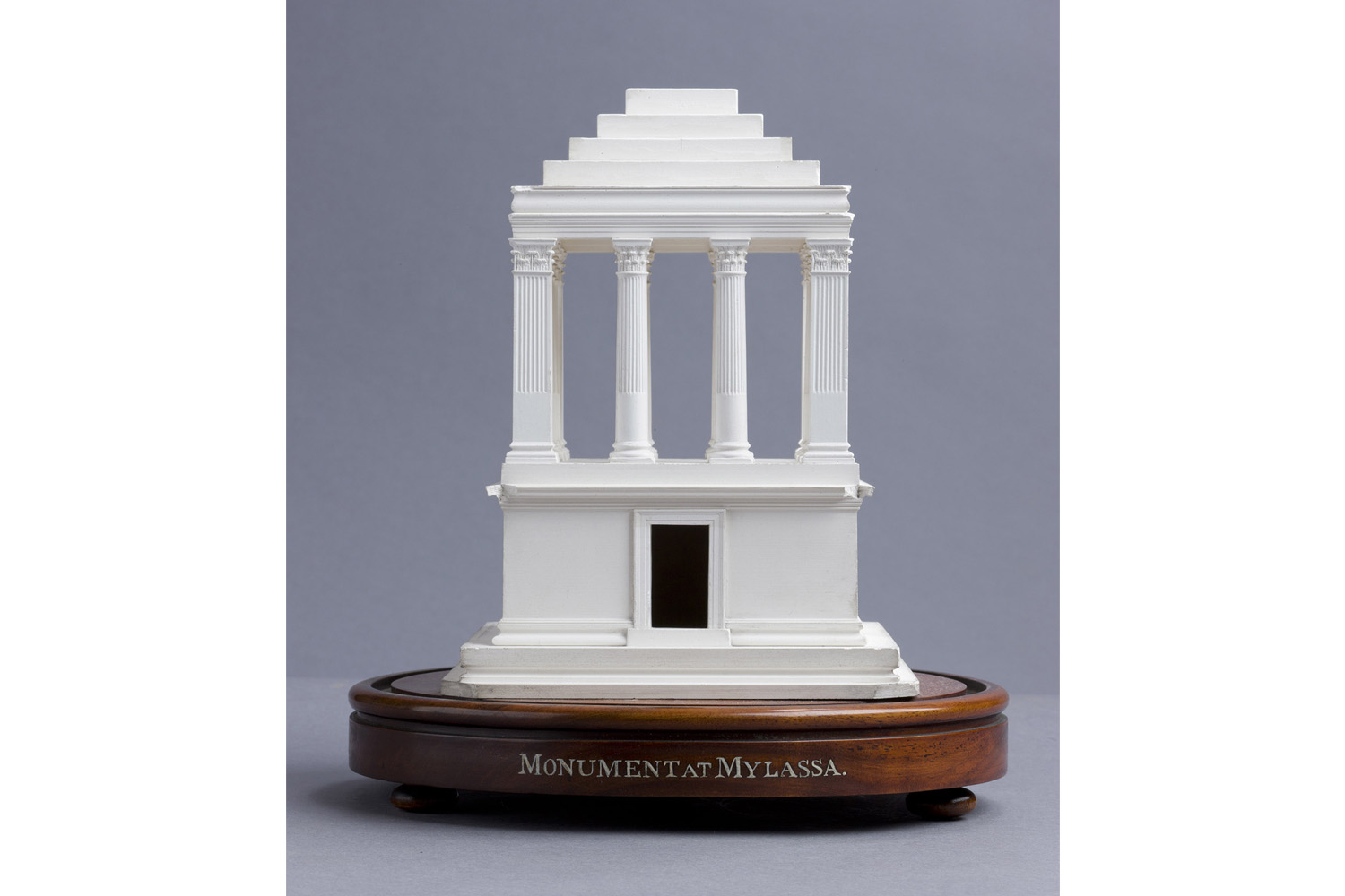 Plaster of Paris model of an ancient monument