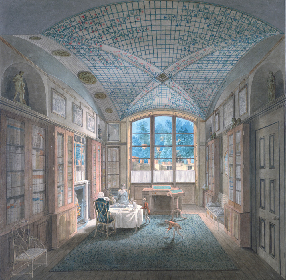 J.M. Gandy, view of the Breakfast Room at 12 Lincoln's Inn Fields, 1798, watercolour on paper, SM 14/6/1
