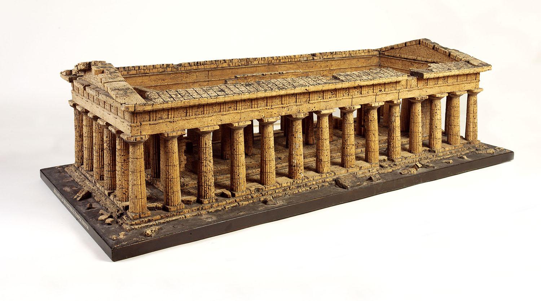 cork model of the Temple of Neptune at Paestum