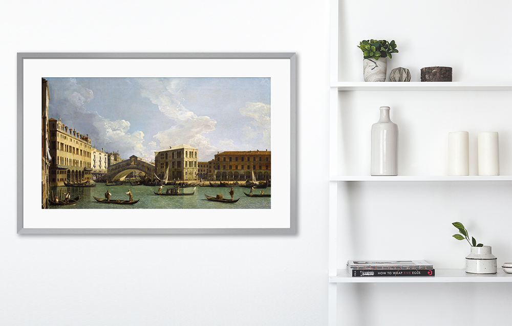 King & McGaw print of 'View of the Rialto Bridge' by Giovanni Antonio Canal, called Canaletto