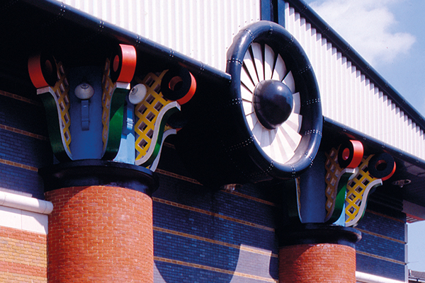 John Outram, Isle of Dogs Pumping Station (detail). Photograph by John Outram