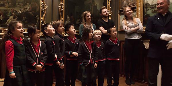 Schoolchildren in the Picture Room of Sir John Soane's Museum