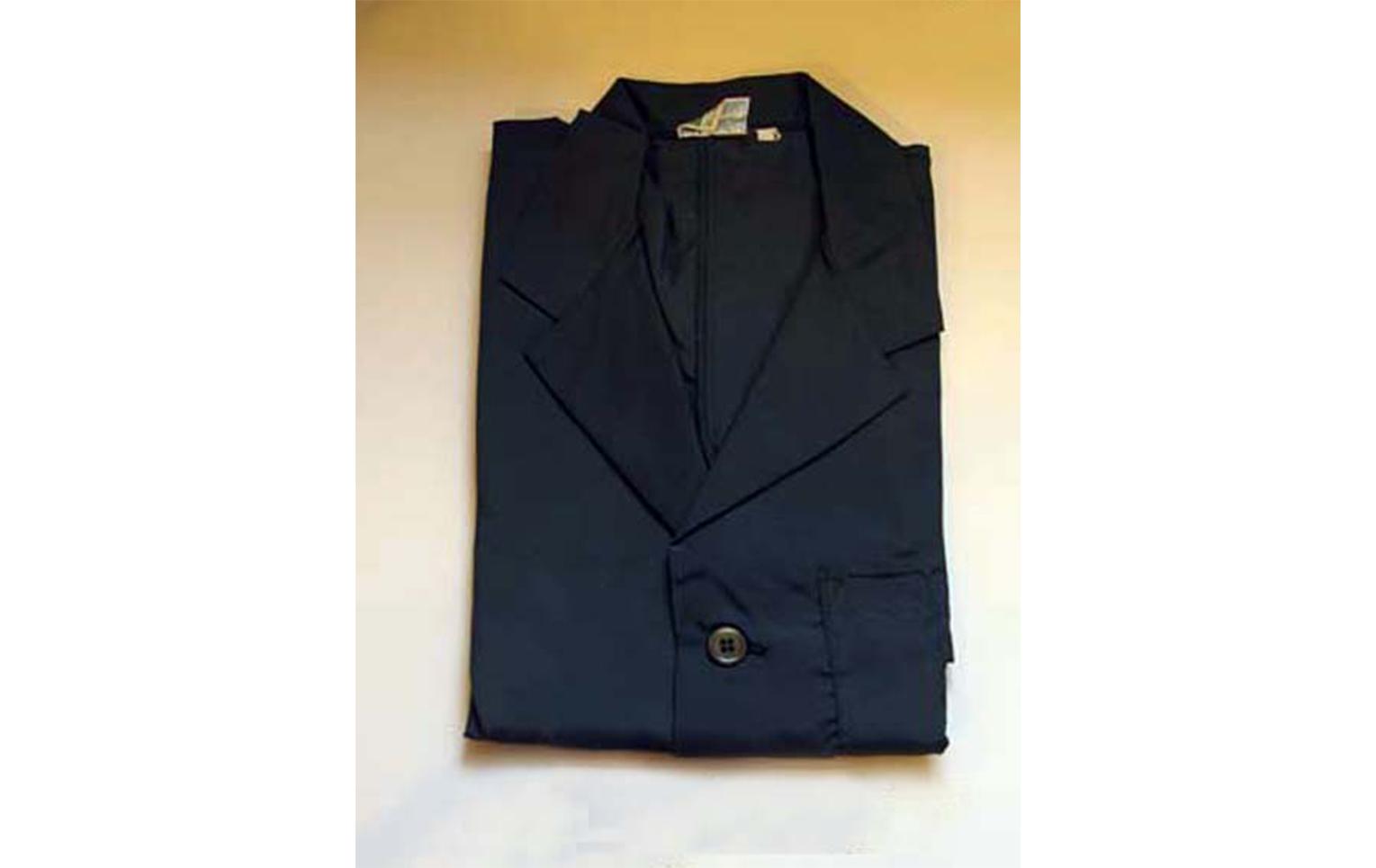 Warehouseman's coat by Alexandra Workwear Ltd, worn as uniform by warding staff at Sir John Soane's Museum