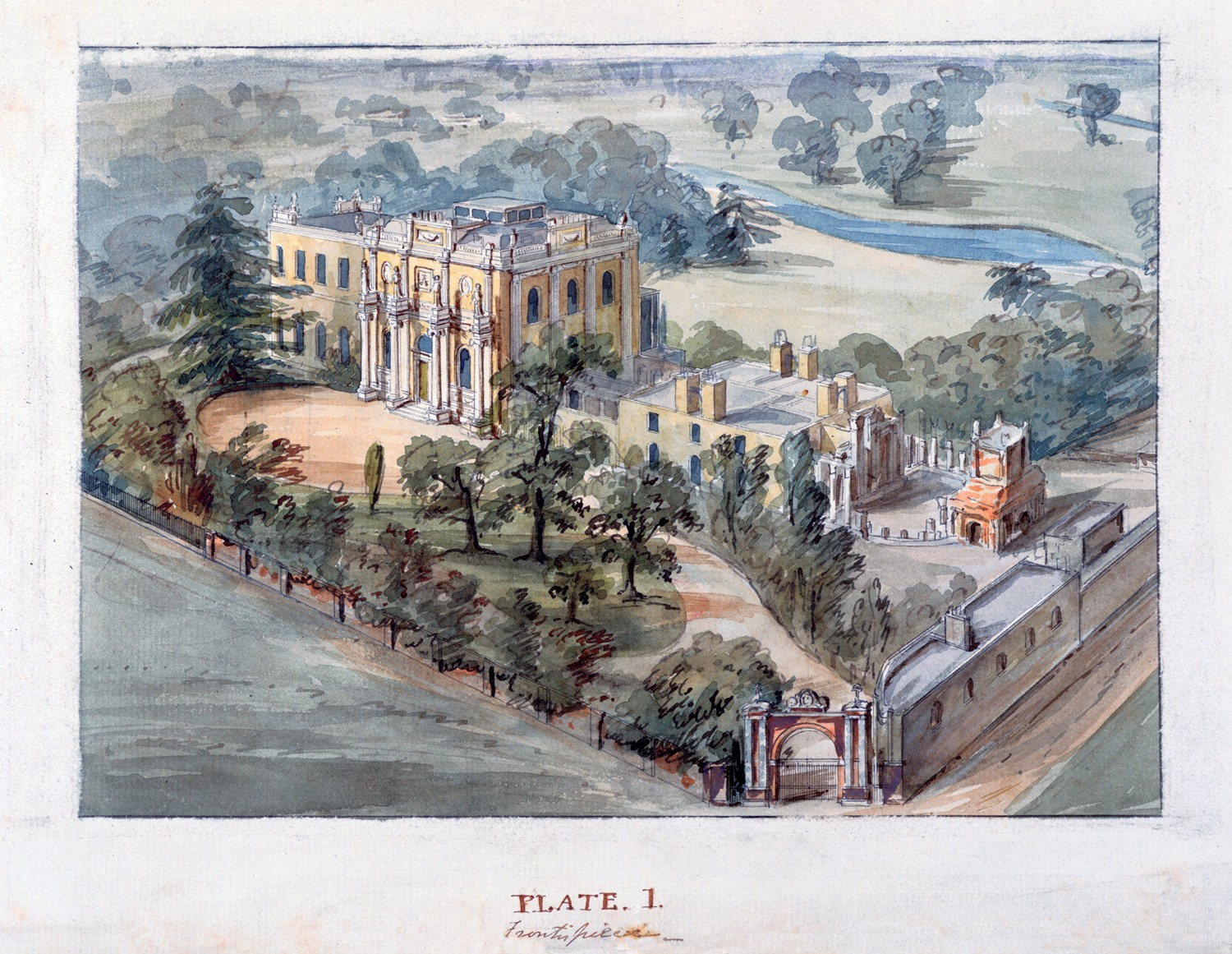 Bird's-eye view of Pitzhanger Manor