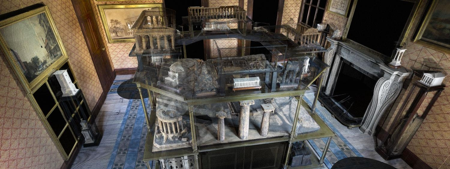 3D scan of the Soane Museum's Model Room