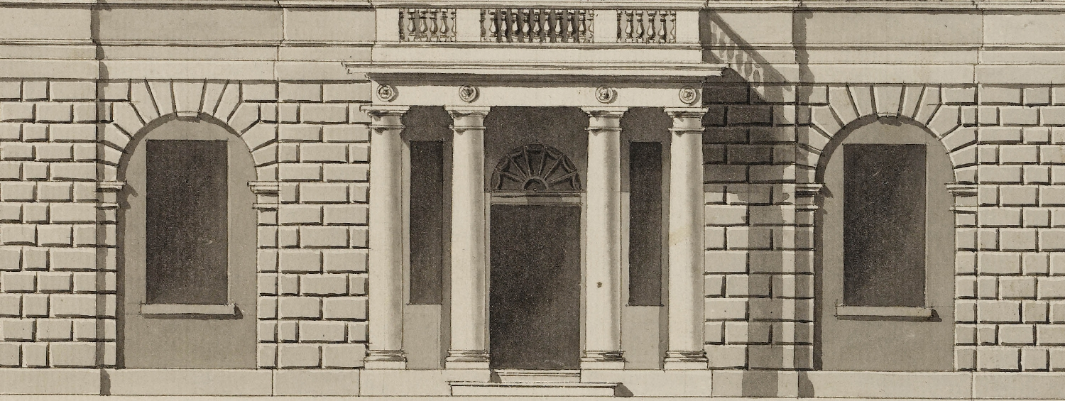 Adam Office, Design for the front façade of Mr Rose's house at Beckenham, 1788. SM Adam volume 35/101