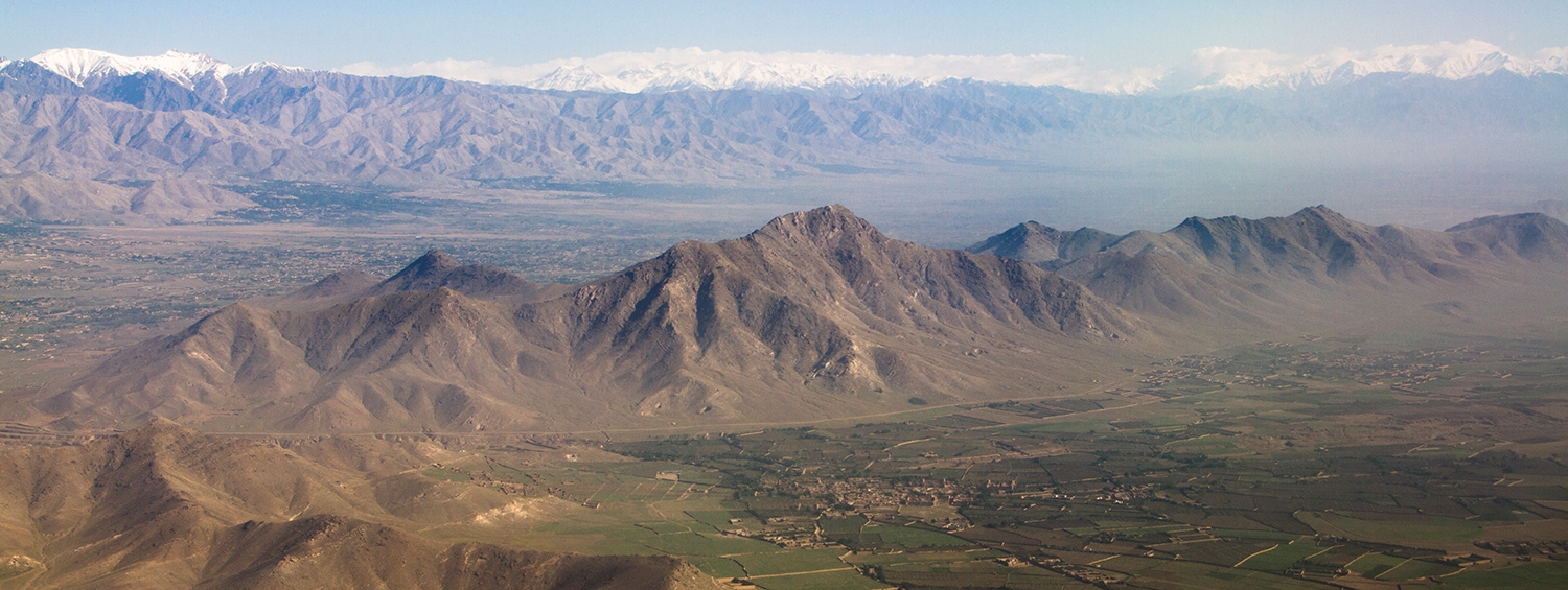 Beautiful mountain line and agriculture area in Afghanistan. Photo by Sigit Setiyo Pramono. Image sourced on iStockphoto