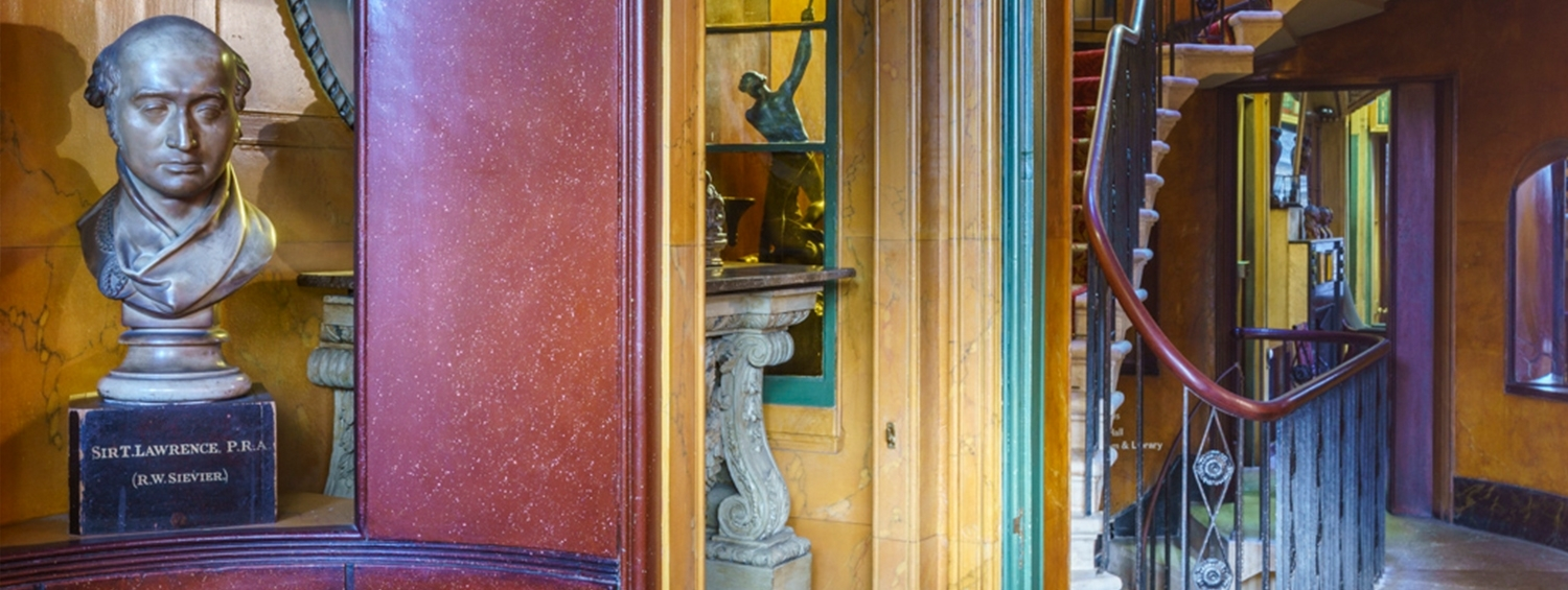The entrance hall of Sir John Soane's Museum