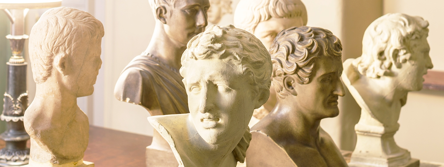 Classical busts in the Soane Museum