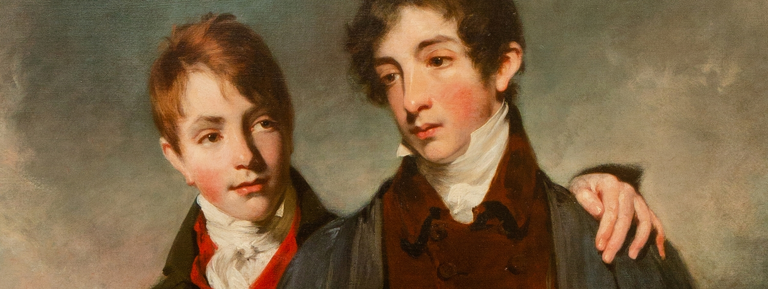 Detail of Owen's portrait of Soane's sons John jr & George