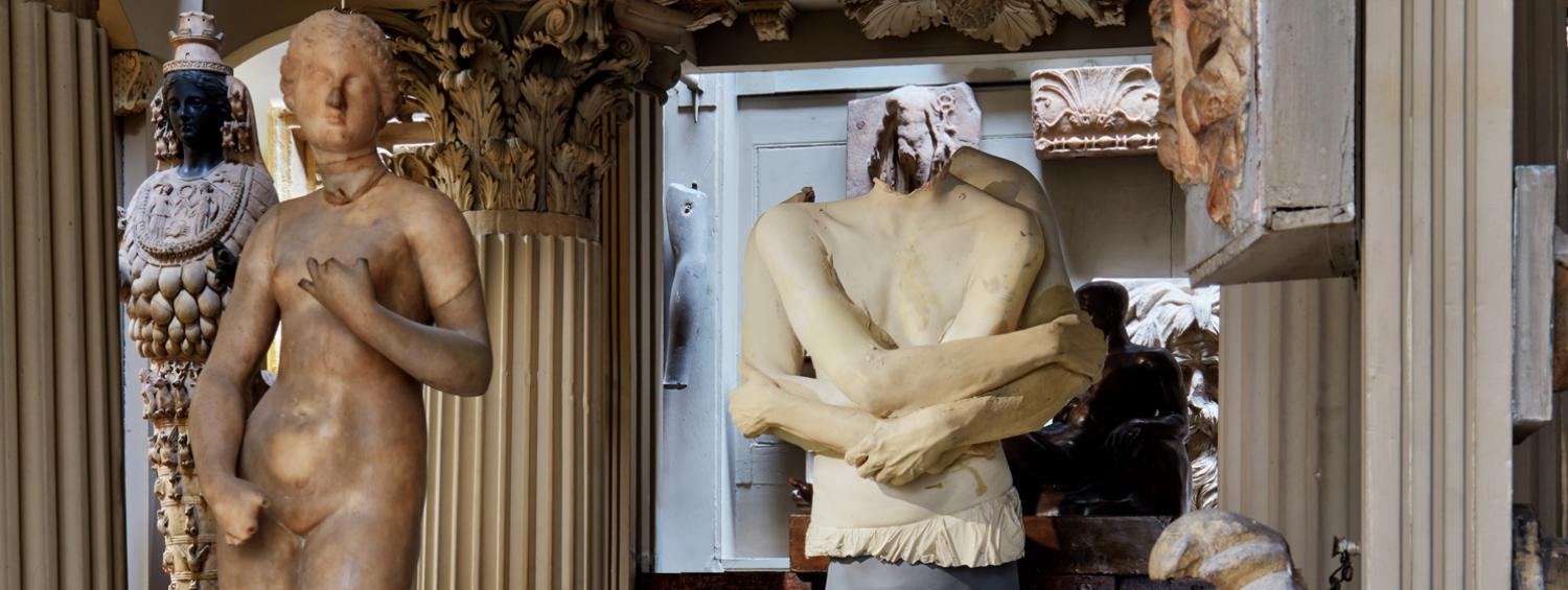Marc Quinn's sculpture in the Soane Museum