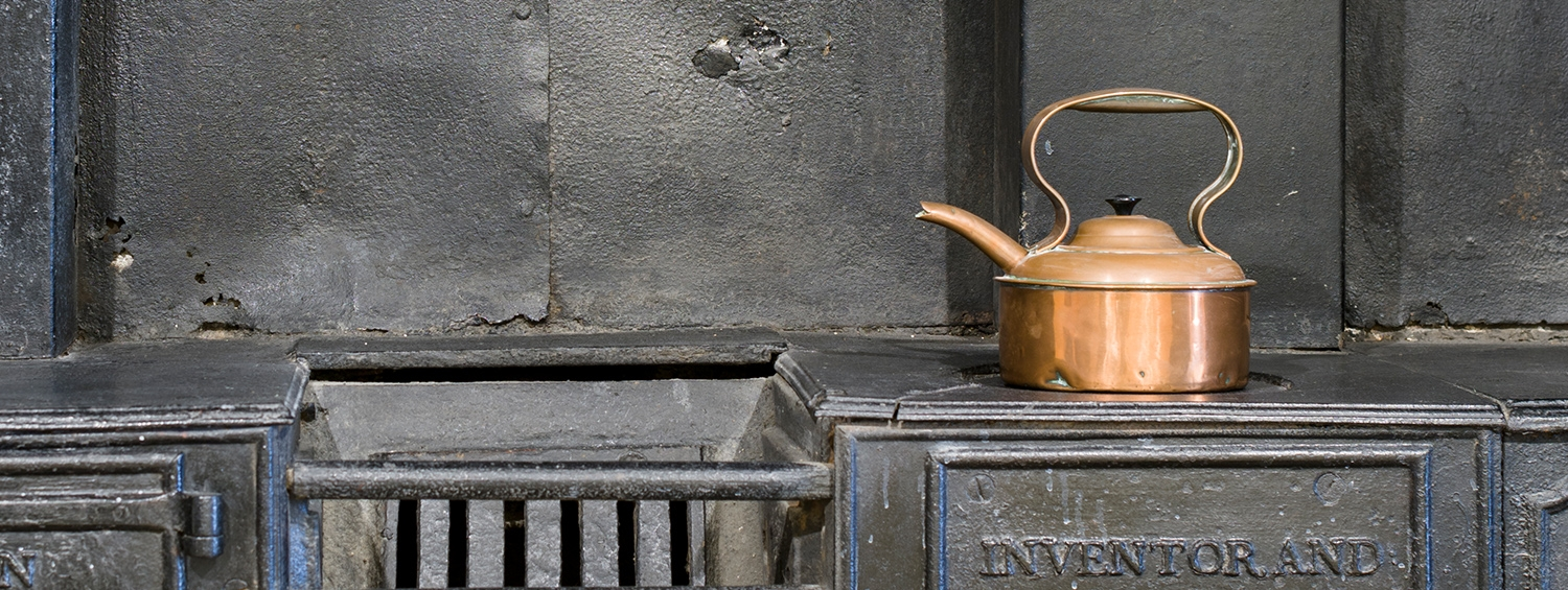 Nineteenth Century kettle and range in the Soane Museum kitchen