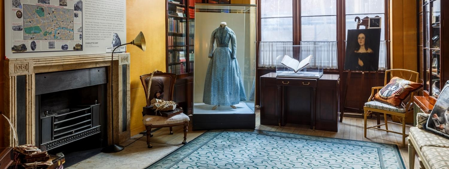 Installation shot of Charlotte Bronte at the Soane on display in the Breakfast Room