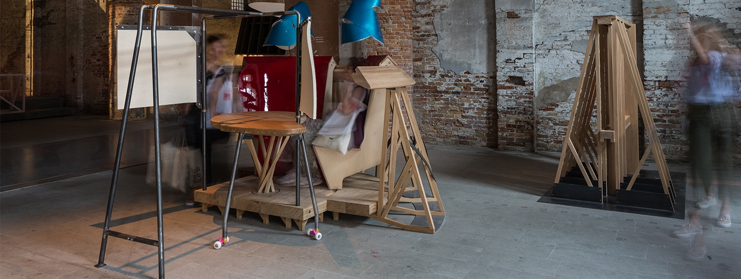 Installation photograph of proposal B by Salter + Collingridge at the Venice Biennale