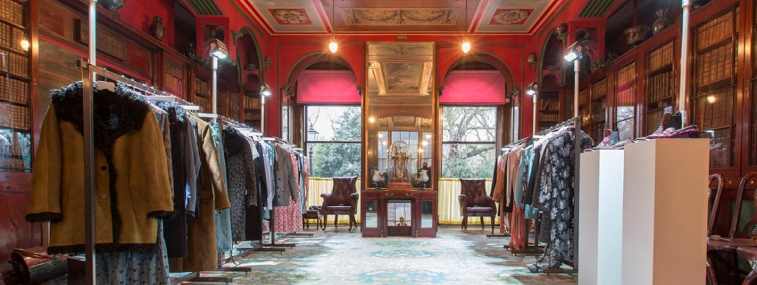 Topshop launching their collection in the Soane's Library Dining Room