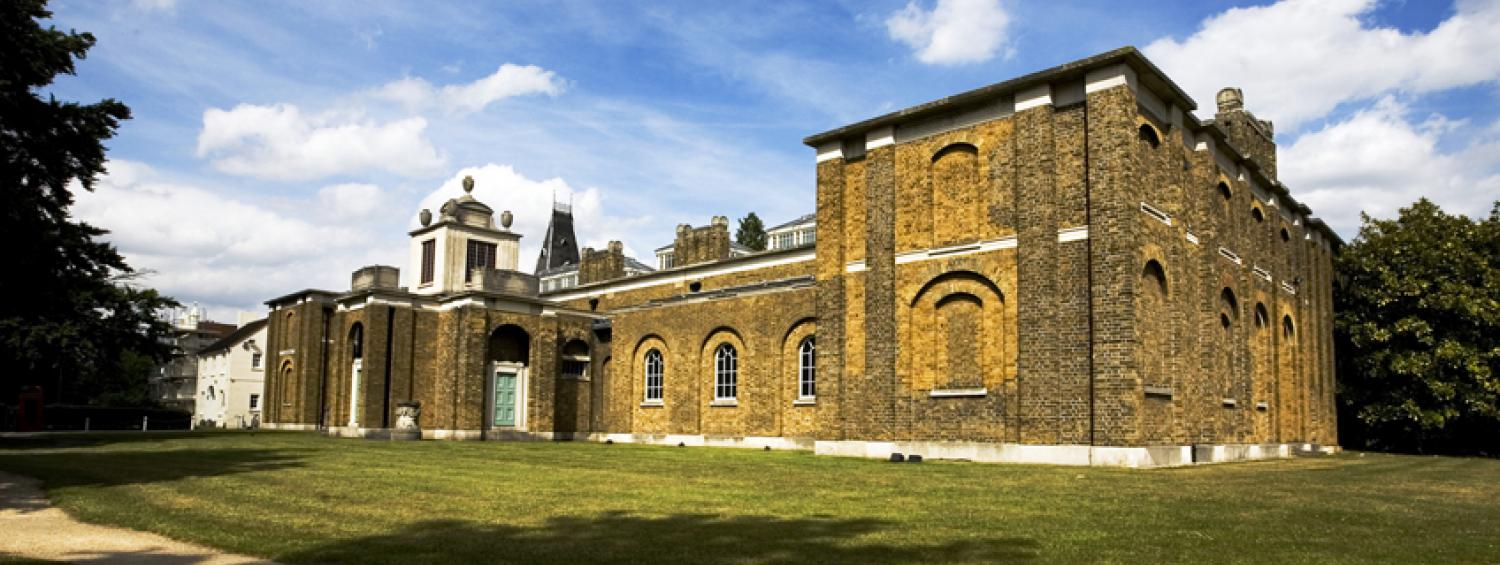Photograph of the front of Dulwich Picture Gallery