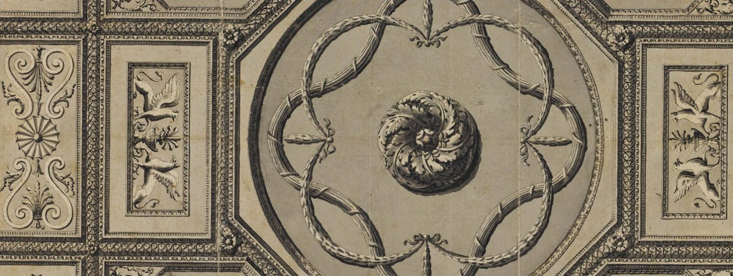 Drawing of Syon House ceiling