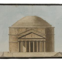 Elevation of the Pantheon, Rome