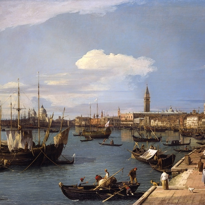 Antonio Canaletto (1697 - 1768), Riva degli schiavoni, Venice, c.1734-35, Oil on canvas