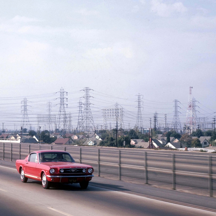 Road in america with a mustang