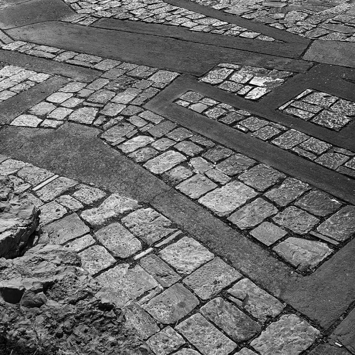 Photograph of paving stone work at Philopappou Hill