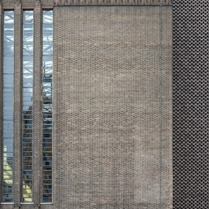 Close up of a wall at Tate Modern and Switch House