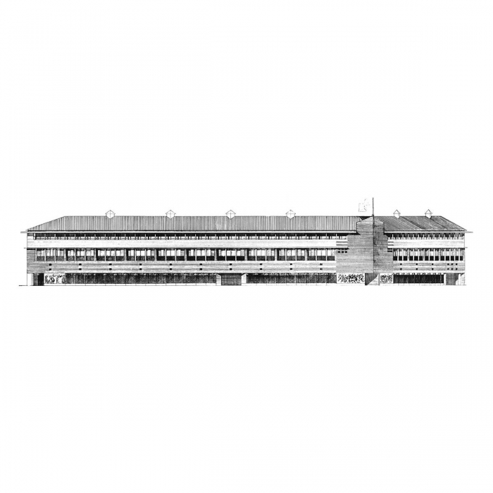 Elevation drawing of a building