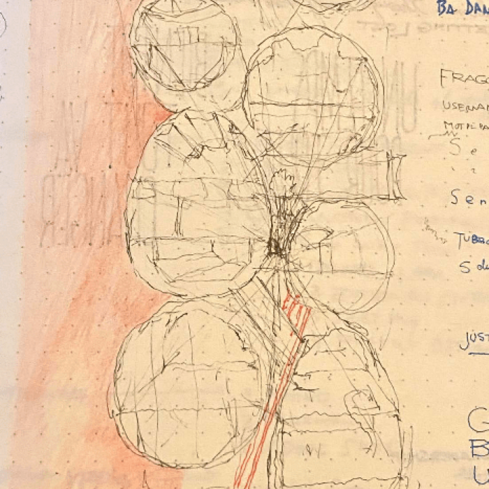 An early sketch of the Airplane Tower design