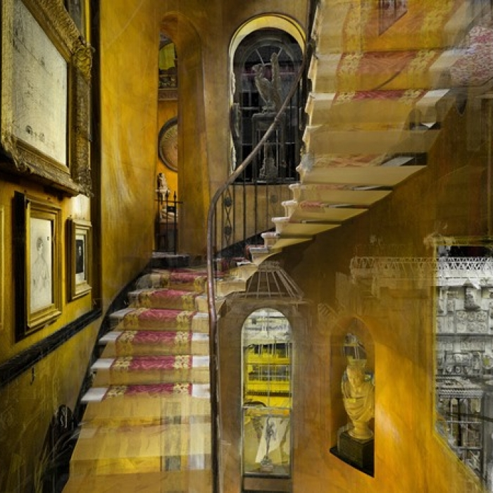 3D scan of the main staircase in Sir John Soane's Museum