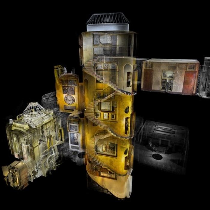 3D scan of the entire interior of Sir John Soane's Museum