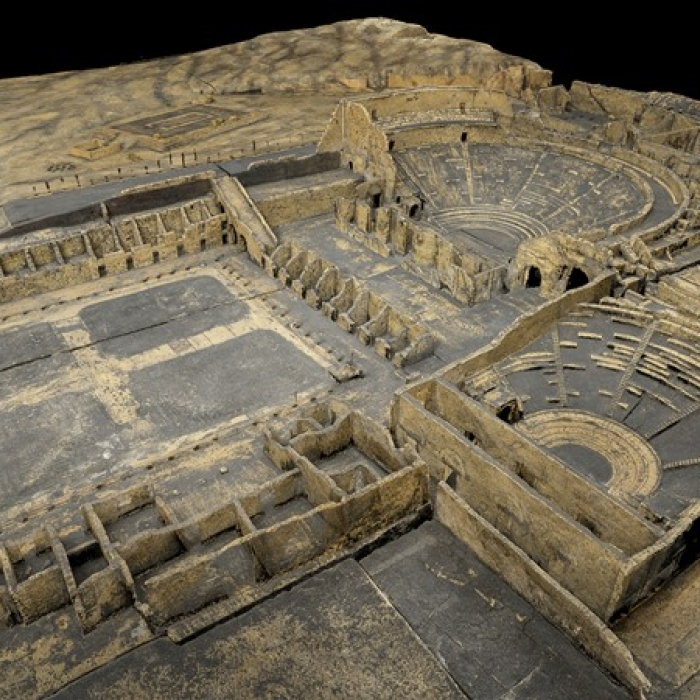 3D scan of the Soane Museum's cork model of Pompeii