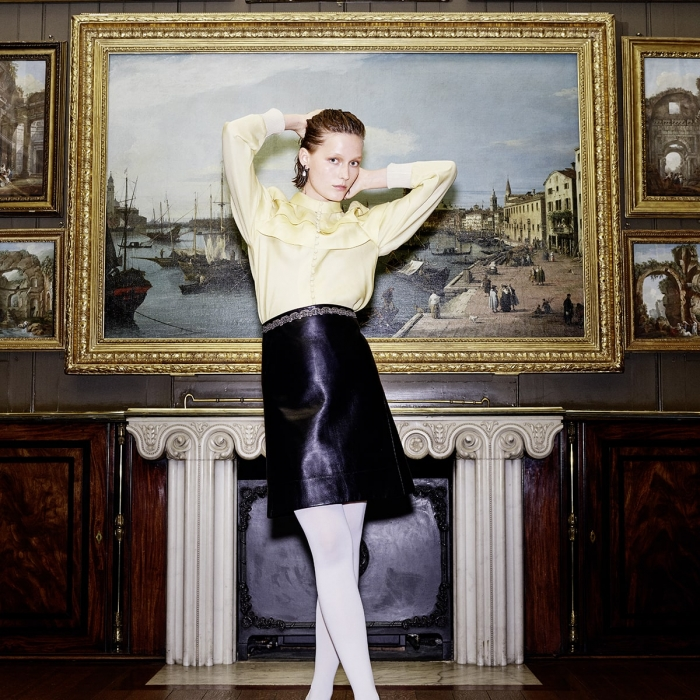 Grazia photoshoot at Sir John Soane's Museum in the Picture Room