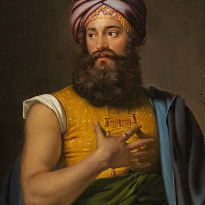 A depiction of Giovanni Belzoni, a beast of a man with a voluptuous beard
