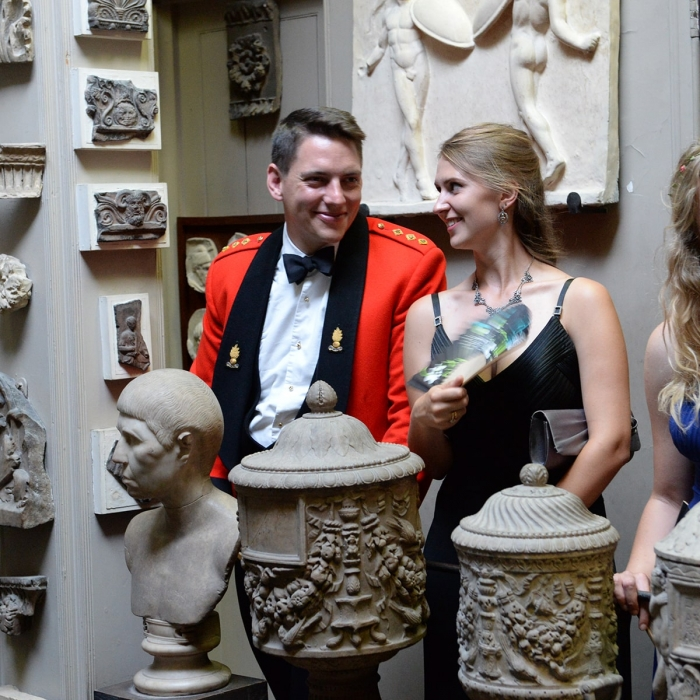Guests during a private tour of Sir John Soane's Museum