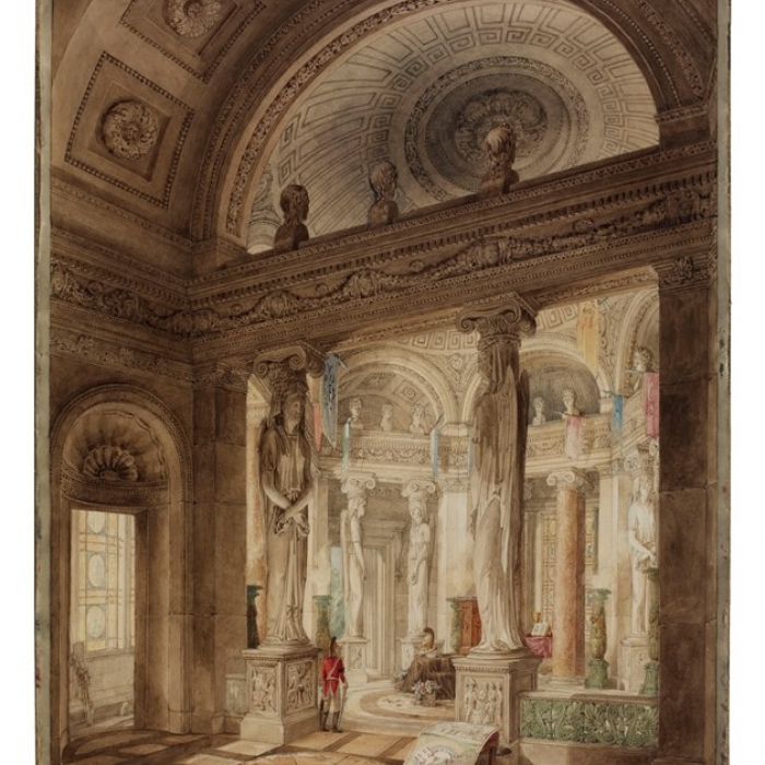 Image of the watercolour that the drawings were hidden behind