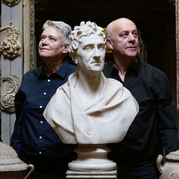 Langlands & Bell in the Dome Area of Sir John Soane's Museum with the bust of Sir John Soane