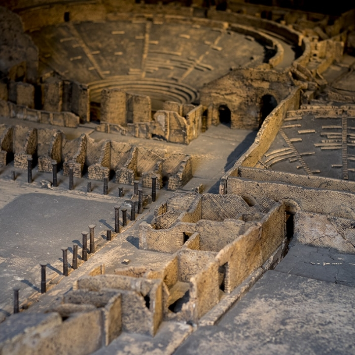 A close-up photograph of part of Soane's vast Pompeii model