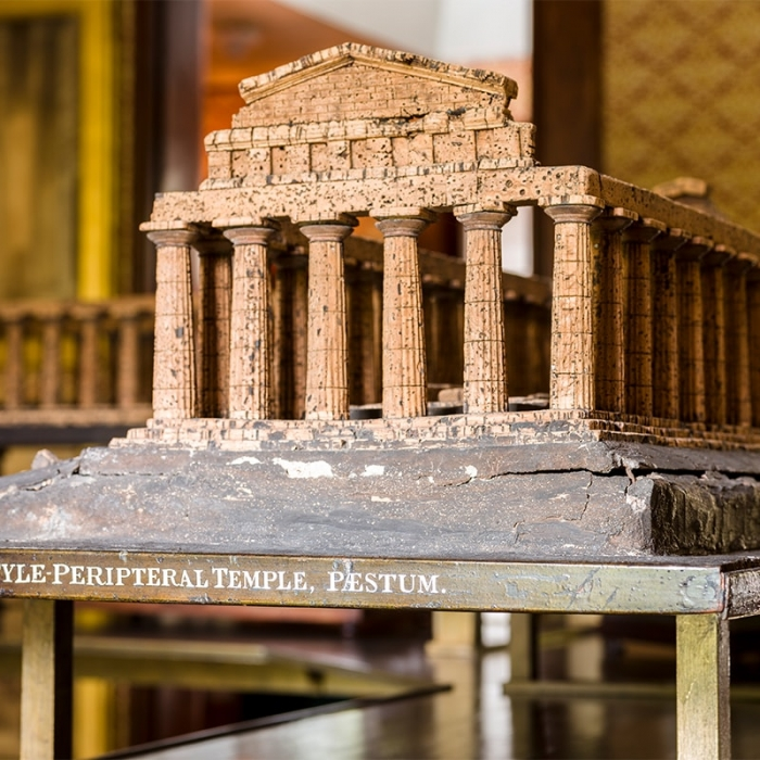 A model of one of the temples at Paestum