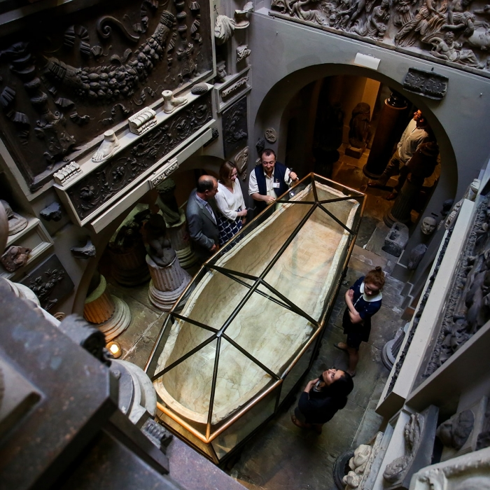 An introduction to the Sarcophagus of Seti I on a private tour in the Soane Museum