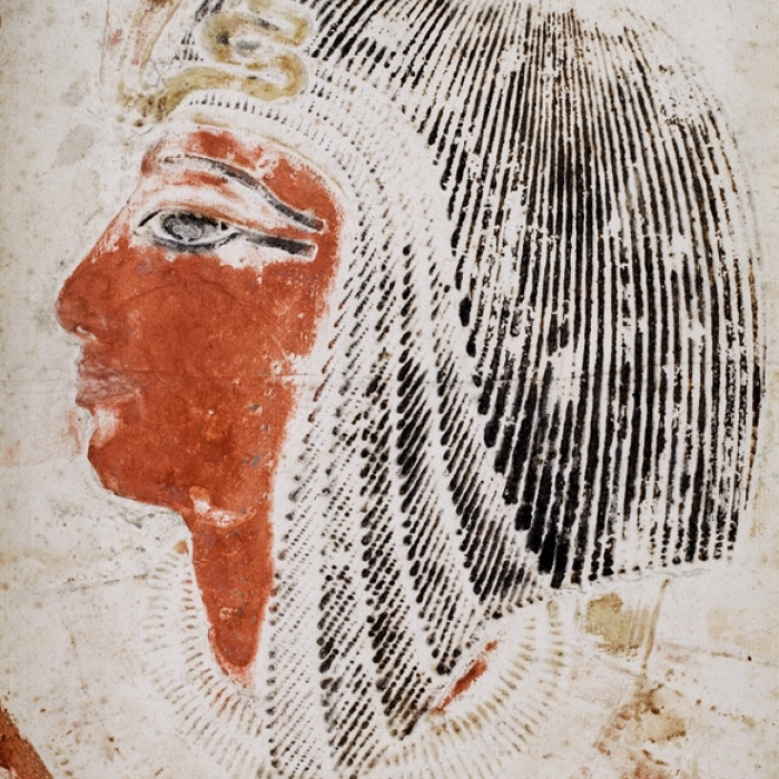 A drawing by Giovanni Belzoni of Seti I wearing a wig
