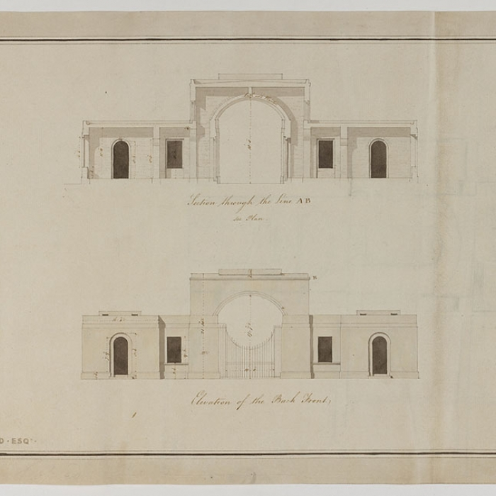 A finished drawing of an architectural construction