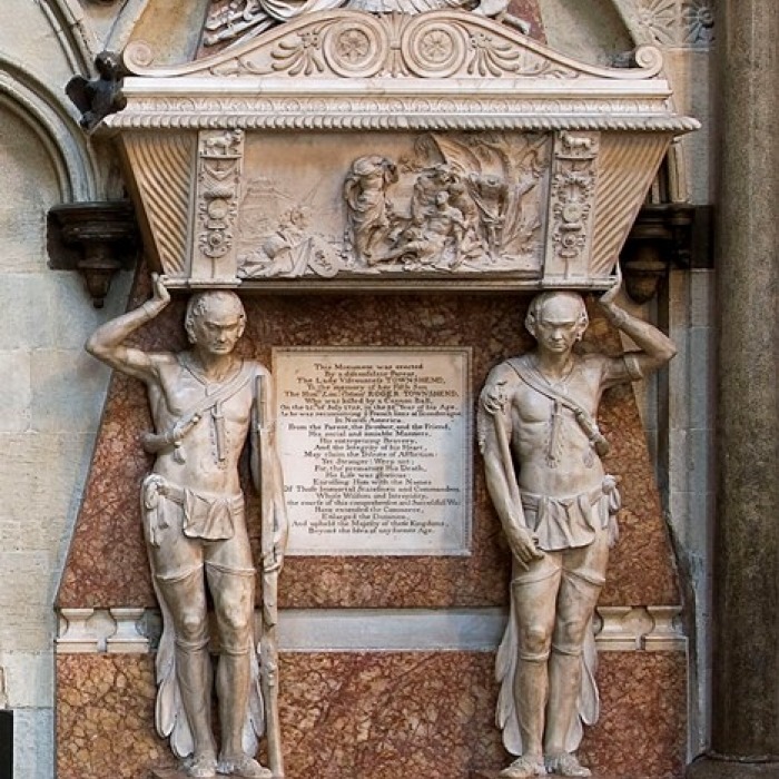 Photograph of the funerary monument to Lieutenant-Colonel Roger Townshend at Westminster Abbey