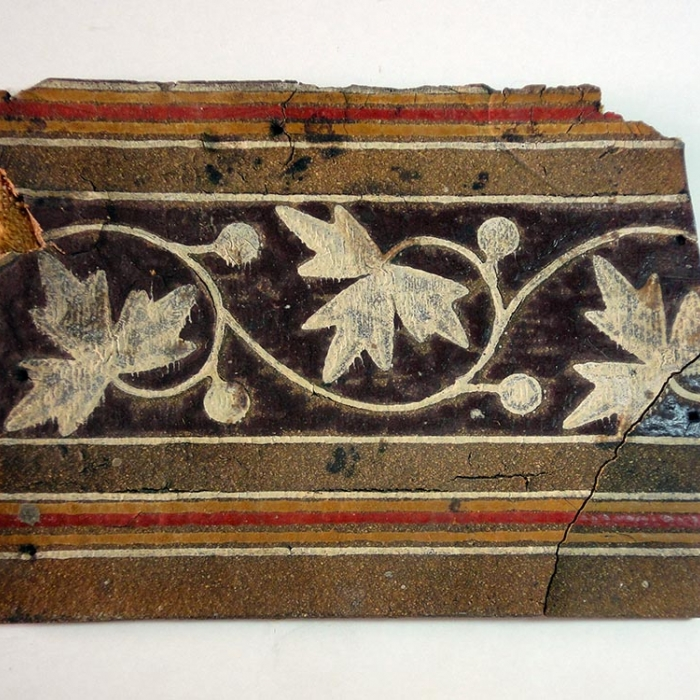 Fragment of floor cloth, early 20th century