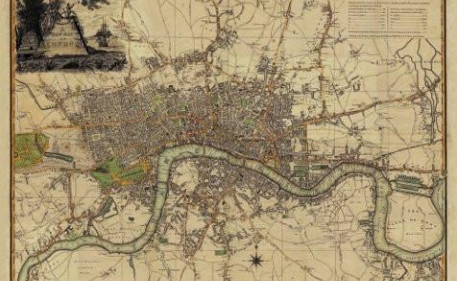 A New Map of London 1800 Large – Large London Map