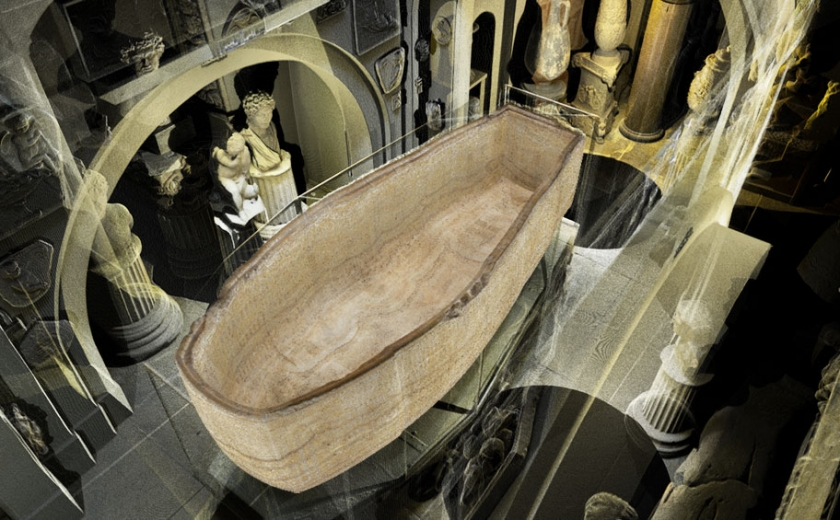 3D scan of the Soane Museum's Sepulchral Chamber