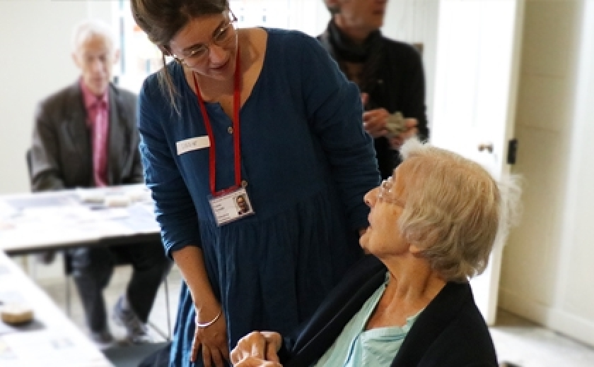 A workshop for people with dementia and their carers at Sir John Soane's Museum