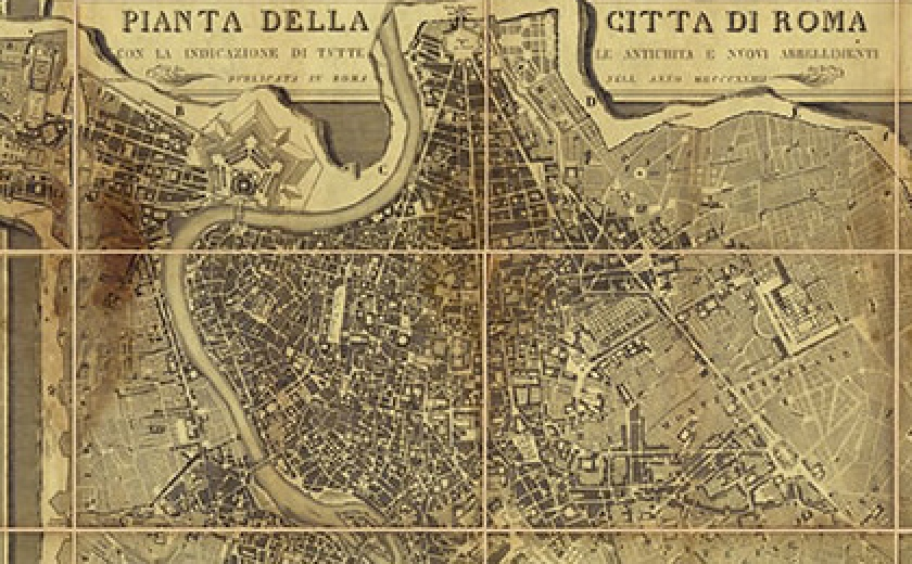 Detail of Map of Rome