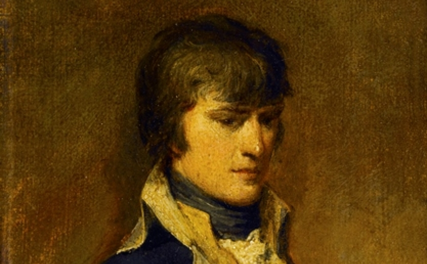 Detail of a portrait of a young Napoleon Bonaparte in the collection of Sir John Soane's Museum